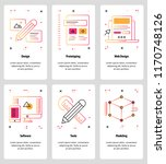 vector set of mobile app... | Shutterstock .eps vector #1170748126