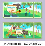 zoo admission tickets with... | Shutterstock .eps vector #1170750826