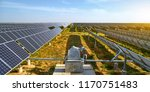 aerial solar photovoltaic... | Shutterstock . vector #1170751483