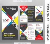 business brochure template in... | Shutterstock .eps vector #1170751669