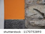 black and orange wall with... | Shutterstock . vector #1170752893
