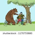 bear hunting hunters. hunter... | Shutterstock .eps vector #1170753880