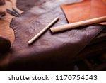 leathersmith's work desk .... | Shutterstock . vector #1170754543