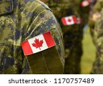 canada patch flags on soldiers... | Shutterstock . vector #1170757489