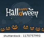 happy halloween. night...   Shutterstock .eps vector #1170757993