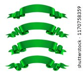 green ribbon banners.vector... | Shutterstock .eps vector #1170758359
