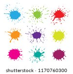 collection of paint splashes.... | Shutterstock .eps vector #1170760300