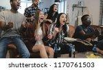 african american sports fans...   Shutterstock . vector #1170761503