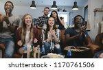 multi ethnic fans go crazy...   Shutterstock . vector #1170761506