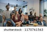 african american football fans...   Shutterstock . vector #1170761563