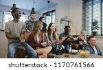 african american football fans...   Shutterstock . vector #1170761566