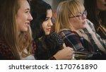 european girls watch sad movie... | Shutterstock . vector #1170761890