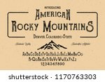 vintage gothic font. hand made... | Shutterstock .eps vector #1170763303