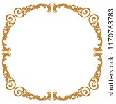 golden vintage baroque ornament ... | Shutterstock .eps vector #1170763783