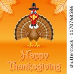 thanksgiving turkey bird vector ... | Shutterstock .eps vector #1170768586
