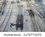 view of the railroad tracks.... | Shutterstock . vector #1170771070