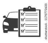car maintenance list icon | Shutterstock .eps vector #1170772633