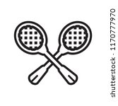 racket icon vector isolated on... | Shutterstock .eps vector #1170777970