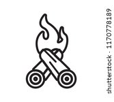bonfire icon vector isolated on ... | Shutterstock .eps vector #1170778189