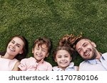 happiness portrait. family of... | Shutterstock . vector #1170780106