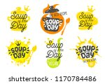 soup of the day  sketch style... | Shutterstock .eps vector #1170784486