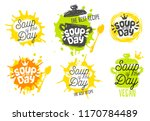 soup of the day  sketch style... | Shutterstock .eps vector #1170784489