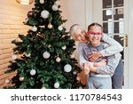 grandmother and granddaughter... | Shutterstock . vector #1170784543