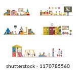 kindergarten or nursery... | Shutterstock .eps vector #1170785560
