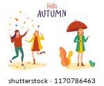 female flat cartoon characters... | Shutterstock .eps vector #1170786463