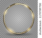 gold ring. golden metal circle  ... | Shutterstock .eps vector #1170789700