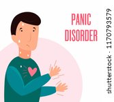man having panic attack. health ... | Shutterstock .eps vector #1170793579