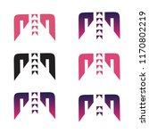 modern m letter  strong  clear  ... | Shutterstock .eps vector #1170802219