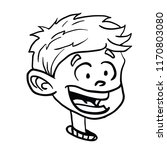 boy smile cartoon illustration... | Shutterstock .eps vector #1170803080