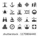 marine silhouette icons set.... | Shutterstock .eps vector #1170806440