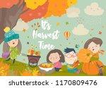 happy cartoon children... | Shutterstock .eps vector #1170809476