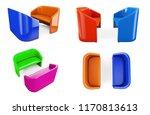 blue sofa on white background... | Shutterstock . vector #1170813613