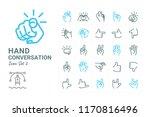 hand conversation vector icon... | Shutterstock .eps vector #1170816496