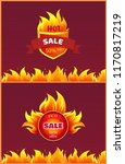 best offer hot sale badge with... | Shutterstock .eps vector #1170817219