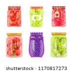 preserved fruit and vegetables... | Shutterstock .eps vector #1170817273