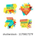 mega sale exclusive products... | Shutterstock .eps vector #1170817279
