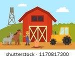 farm and animals livestock ...   Shutterstock .eps vector #1170817300