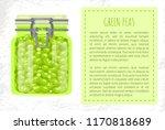 green peas preserved food in... | Shutterstock .eps vector #1170818689
