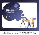vector concept illustration 404 ... | Shutterstock .eps vector #1170820186