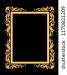 gold vintage ornament frame on...   Shutterstock .eps vector #1170821209