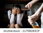 woman victim of domestic...   Shutterstock . vector #1170828319