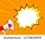 megaphone and speech bubble in... | Shutterstock . vector #1170829099