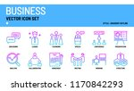 business vector icon set. | Shutterstock .eps vector #1170842293