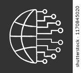 big data chalk icon. cloud... | Shutterstock .eps vector #1170845020