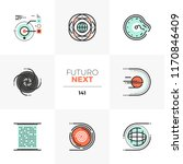 modern flat icons set of... | Shutterstock .eps vector #1170846409