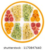 many fruits in the shape of a... | Shutterstock . vector #1170847660